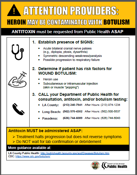 Wound Botulism flyer