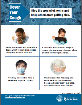 Cover your Cough flyer