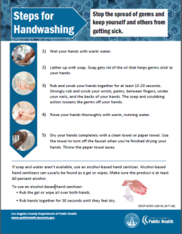Handwashing flyer