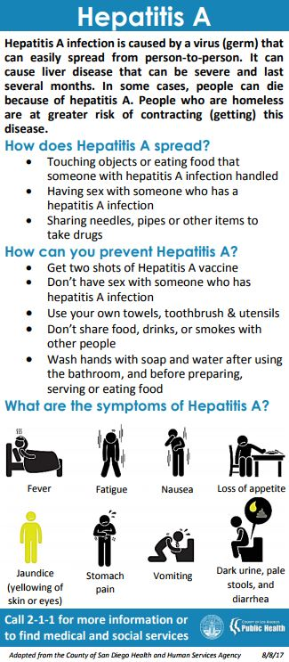 Hepatitis A infographic