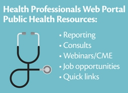 Description and link to Public Health Professionals Web Portal