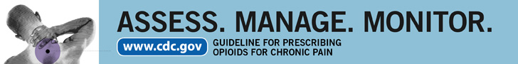 Assess Monitor Manage - banner for CDC opioid prescribing guideline
