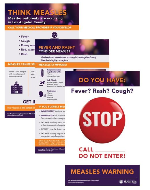 Measles posters for health facilities and patients